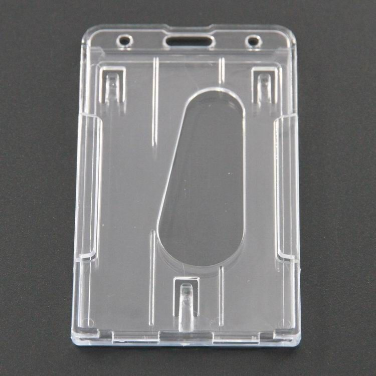 ID Card Package Clear Business Card Holder , Vertical Plastic Name ...